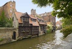 Het charmeren van Middeleeuws Historisch Centrum in Brugge stock foto's