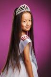 Het charmeren van weinig winnaar van de schoonheidswedstrijd Royalty-vrije Stock Fotografie