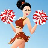 Het cheerleadermeisje Royalty-vrije Stock Foto's