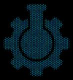 Het chemische Pictogram van de de Industriecollage van Halftone Cirkels vector illustratie