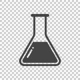 Het chemische pictogram van het reageerbuispictogram Chemisch laboratoriummateriaal isolat stock illustratie