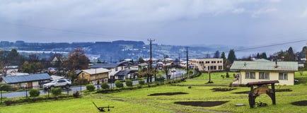 Het Chileense dorp van Patagonië Royalty-vrije Stock Afbeelding