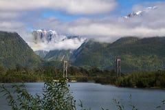 Het Chileense landschap van Patagonië Stock Afbeeldingen