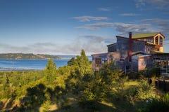 Het Chileense landschap van Patagonië Stock Foto