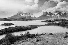 Het Chileense landschap van Patagoni?, Torres del Paine National Park royalty-vrije stock afbeelding