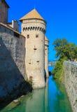 Het Chillon-Kasteel stock foto