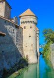 Het Chillon-Kasteel stock afbeeldingen