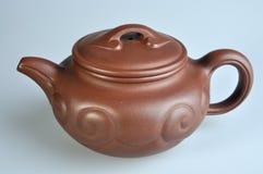 Het Chinese aardewerk van de stijl rode thee Stock Afbeeldingen