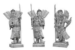 Het Chinese beeldhouwwerk van de strijderssteen in Wat Pho Temple, Bangkok royalty-vrije stock afbeeldingen