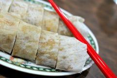 Het Chinese broodje van de stijl vegetarische lente Stock Foto's