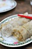 Het Chinese broodje van de stijl vegetarische lente Royalty-vrije Stock Afbeelding