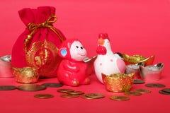 Het Chinese Concept van het Nieuwjaar Stock Fotografie