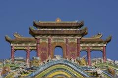Het Chinese Dak van de Tempel royalty-vrije stock afbeelding