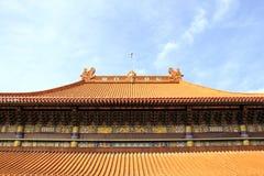 Het Chinese Dak van de Tempel Stock Foto's