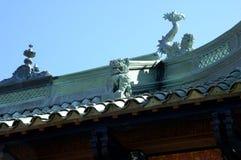 Het Chinese dak van het Huis van de Thee stock afbeeldingen
