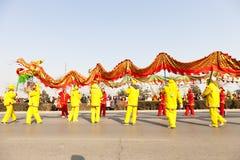 Het Chinese de draak van Traditioal dansen Royalty-vrije Stock Fotografie