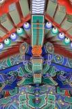 Het Chinese detail van het tempeldak, Peking, China stock afbeelding