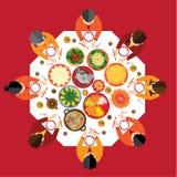 Het Chinese Diner van de Nieuwjaarbijeenkomst Royalty-vrije Stock Foto
