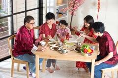 Het Chinese Diner van de Nieuwjaarbijeenkomst royalty-vrije stock foto's