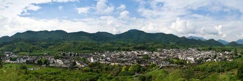 Het Chinese dorp van Panoramaof Royalty-vrije Stock Afbeeldingen
