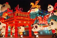 2014 het Chinese festival van de Nieuwjaarlantaarn Stock Foto's