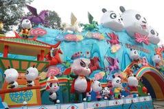 2014 het Chinese festival van de Nieuwjaarlantaarn Stock Foto