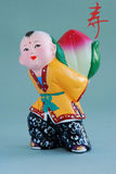Het Chinese gelukkige klei figurine_long leven (klusje) vector illustratie