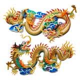 Het Chinese Gouden Standbeeld van de Draak Royalty-vrije Stock Fotografie