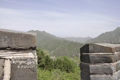 Het Chinese Grote landschap van de Muurbuurt bij Juyongguan-Pas stock afbeelding