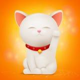 Het Chinese karakter van het de kattenbeeldverhaal van Maneki Neko gelukkige royalty-vrije illustratie