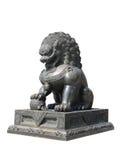 Het Chinese KeizerStandbeeld van de Leeuw Stock Afbeelding