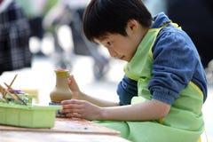 het Chinese kinderen schilderen Royalty-vrije Stock Afbeelding