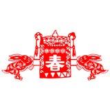 Het Chinese konijn van het Nieuwjaar Royalty-vrije Stock Foto's