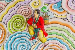 Het Chinese kunststijl schilderen Stock Foto