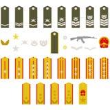 Het Chinese leger van epauletten Royalty-vrije Stock Foto's