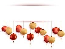 Het Chinese malplaatje van de lantaarnsnieuwjaarskaart royalty-vrije stock foto's