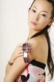 Het Chinese meisje van de glamour stock afbeeldingen