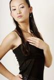 Het Chinese meisje van de glamour royalty-vrije stock afbeeldingen