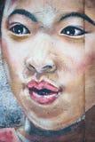 Het Chinese meisje van de straatkunst royalty-vrije illustratie