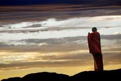 Het Chinese monnik bidden Stock Foto's