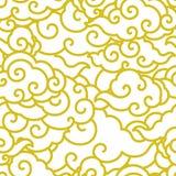 Het Chinese naadloze behang van de wolkengolf vector illustratie