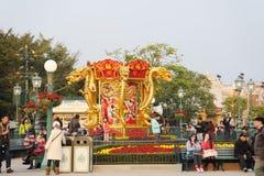 het Chinese nieuwe jaar van 2012 in Hongkong Disney Royalty-vrije Stock Foto's