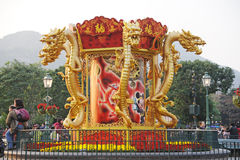 het Chinese nieuwe jaar van 2012 in Hongkong Disney Stock Foto's