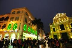 het Chinese nieuwe jaar van 2012 in Macao Stock Foto's