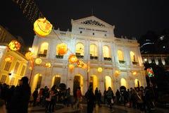het Chinese nieuwe jaar van 2012 in Macao Stock Afbeeldingen