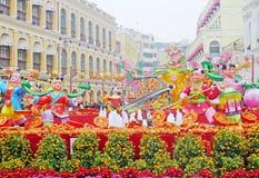 het Chinese nieuwe jaar van 2012 in Macao Stock Foto