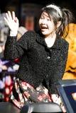 Het Chinese nieuwe meisje van de jaarparade Royalty-vrije Stock Afbeeldingen