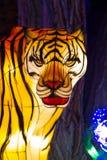 Het Chinese Chinese Nieuwjaar Tiger Lantern van het Lantaarnfestival Royalty-vrije Stock Afbeeldingen