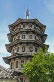 Het Chinese Ontwerp van de Bouw van de Stijl van de Tempel royalty-vrije stock afbeeldingen