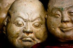 Het Chinese Ornament van het Gezicht van de Steen Stock Foto
